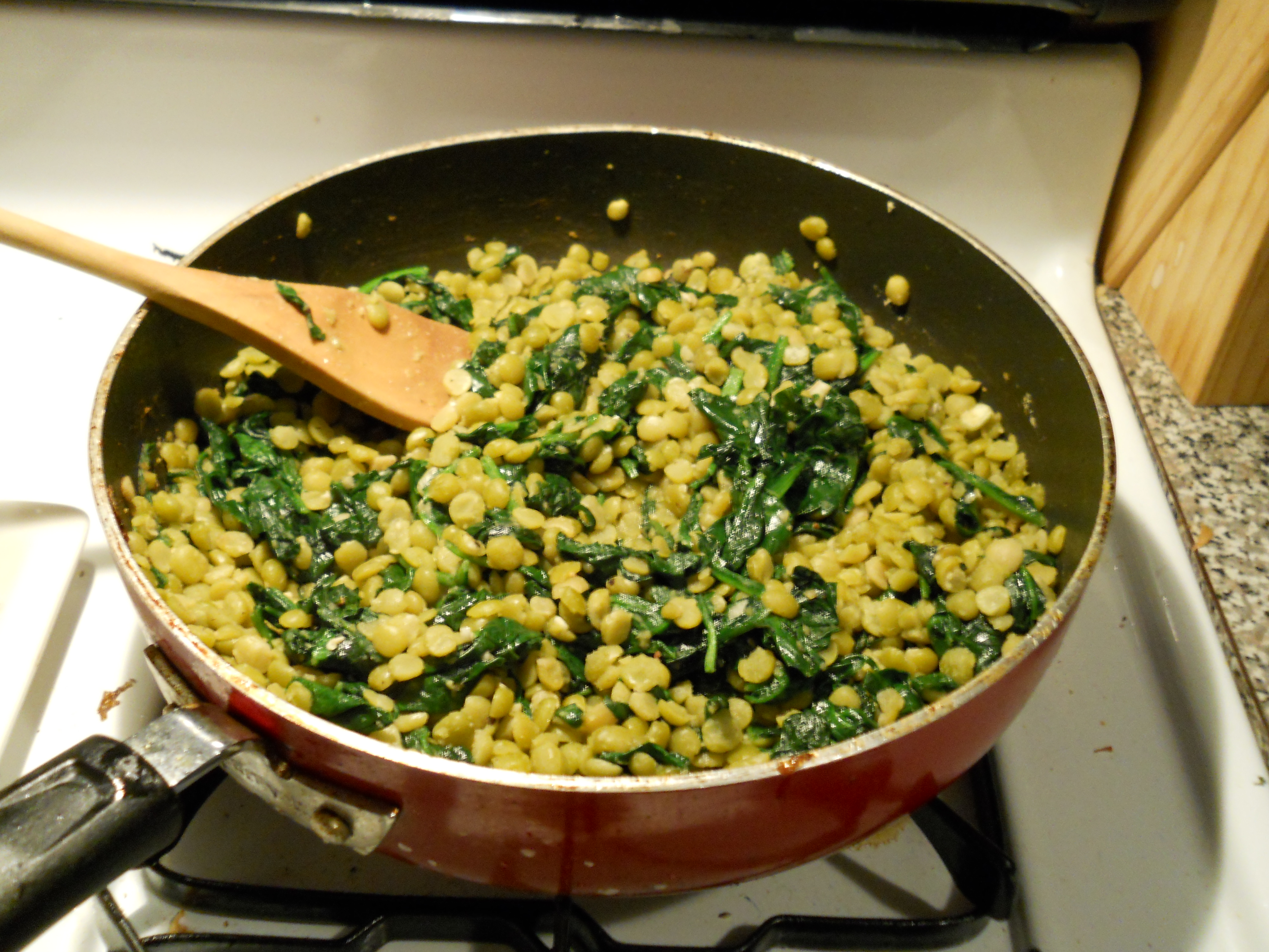 Green Lentils and Spinach with Hard-Cooked Eggs and Toast | Artful ...